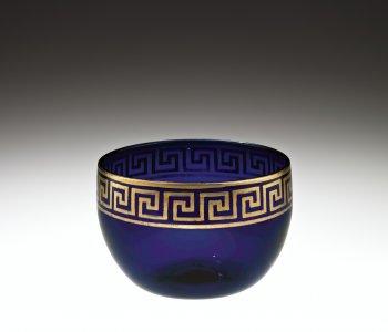 Deep Blue Gilded Bowl