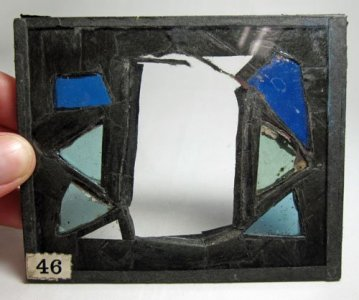 7 Framed Sections of Stained Glass
