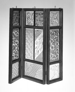 Folding Frame with Pressed Glass Window Panes