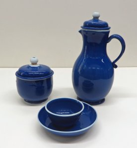 Jug, Bowl, and Cup with Saucer
