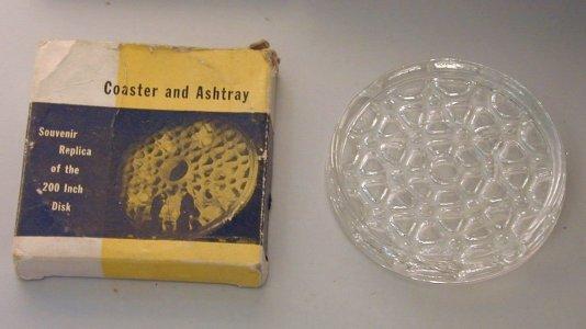 """Coaster/Ashtray Replica of 200"""" Disk in Original Box with Brochure"""
