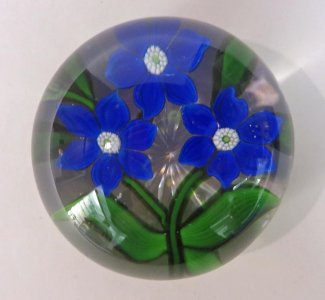 Paperweight with Clematis Flowers