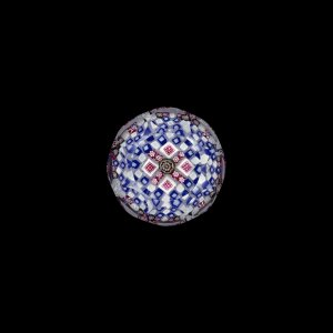 Paperweight with Square Millefiori Canes