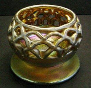 Favrile Basket Vase