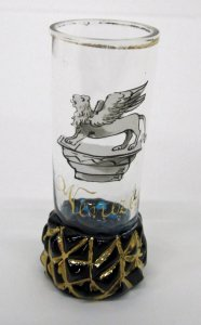 Small Footed Tumbler with Winged Lion