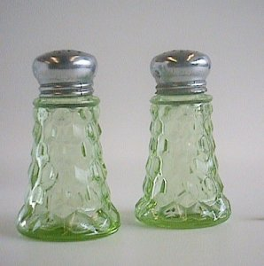 Salt and Pepper Shakers with Lids