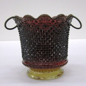 Amberina Hanging Candle Holder