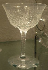 "Champagne Glass in ""RC 53"" Pattern"
