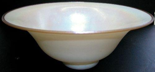 Ivrene Bowl with Gold Aurene Trim