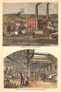 Corning Glass Works-exterior [art original]: Corning Glass Works-the cutting department.