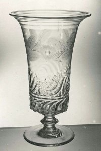 Celery Vase with Engraved Decoration