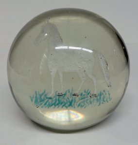 Paperweight with Frit Horse