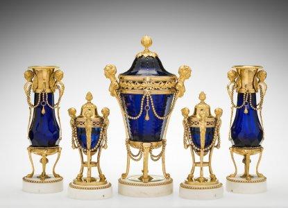Set (Garniture) of Five Vases