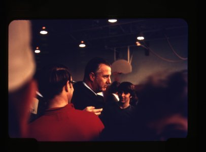 [Vice President Spiro Agnew visits Corning following the flood of June 23, 1972] [picture].