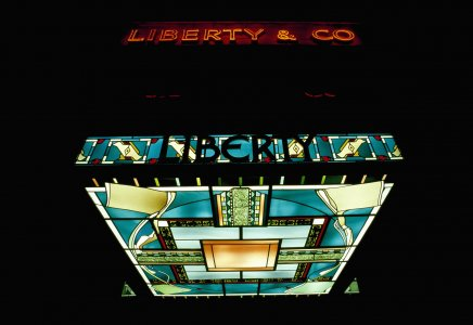 Stained glass canopy for Liberty of Regent Street, London [slide].