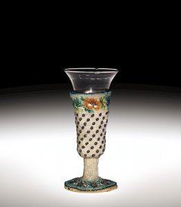 Wineglass with Beadwork