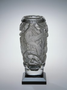 Vase with Birds in Foliage
