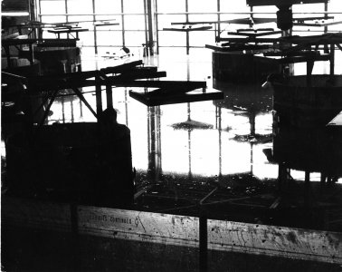 [Flooded Steuben factory production area] [picture].