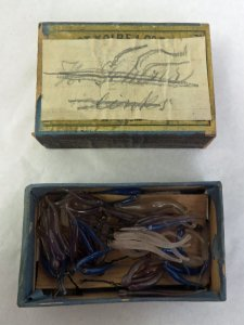 Matchbox Containing 40 Glass Parts of Marine Animals