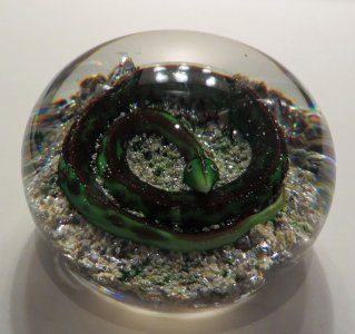 Paperweight with Snake