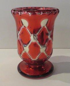 Ruby-Cased Silvered Glass Vase