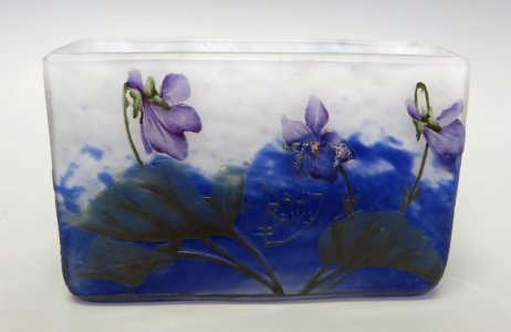 Card Holder with Violets