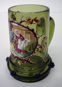 Stein Enameled with Man and Woman