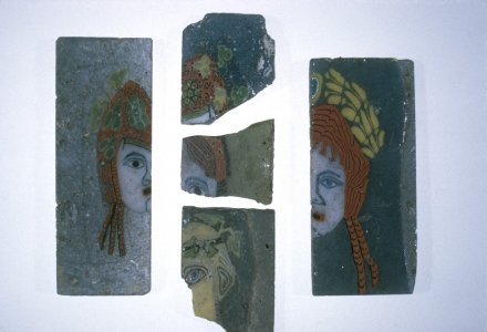 Inlay Fragment of Mosaic Plaque with Maenad or Female Head