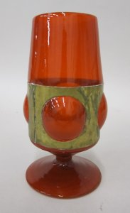 Goblet with Metal Mount