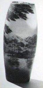 Vase with Japanese Landscape