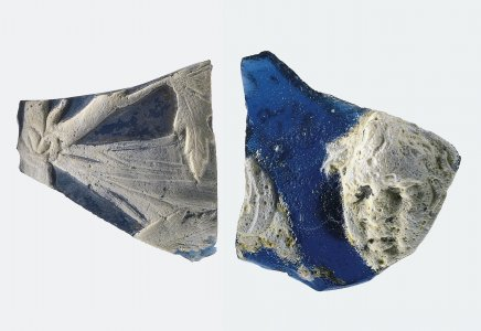 2 Cameo Glass Fragments