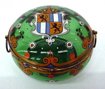 Armorial Box with Hinged Cover