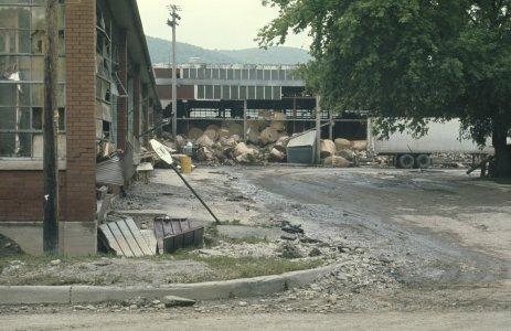[Flood-damaged box plant in Corning, NY] [slide].