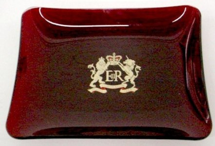 Blue Tray with Royal Crown
