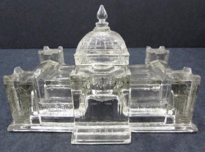 Centennial Building Inkwell with Cover