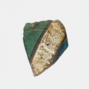 Fragment of Gold Band Glass Vessel