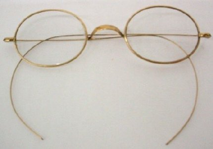 Gold-rimmed Spectacles