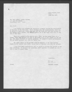 [Letter from Dominick Labino to Carl Solway of Solway Gallery].