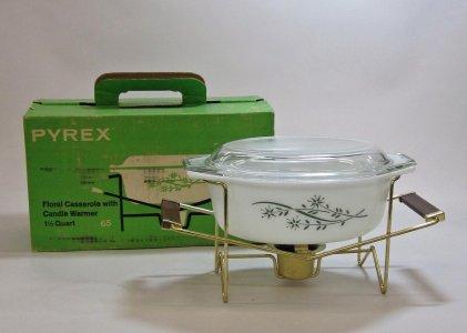 1-1/2 Quart Pyrex Casserole with Warmer in Original Box