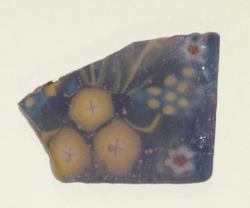 Fragment of a Floral Plaque