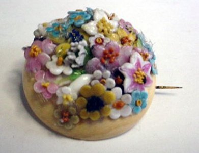 Brooch with Bouquet of Flowers