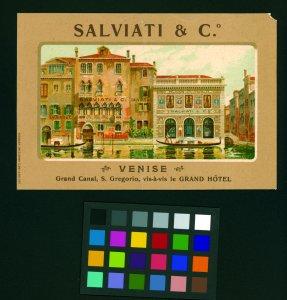 Salviati & C. [picture]: Venise, Grand Canal, S. Gregorio, vis-à-vis le Grand Hôtel.