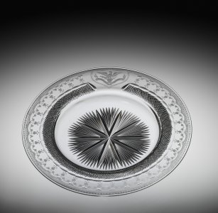 """Ice Cream Plate in """"Lincoln"""" Pattern"""