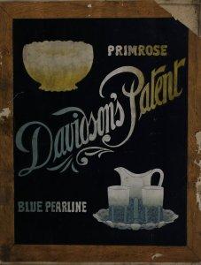 Davidson's patent: primrose, blue pearline.