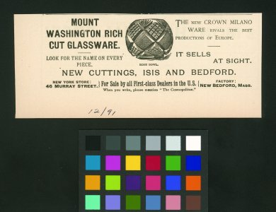 [Mt. Washington advertisement for New Crown Milano Ware] [advertisement].