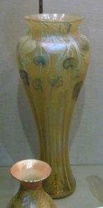 Favrile Vase with Leaf and Vine Decoration