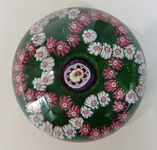 Paperweight with Millefiori Garlands