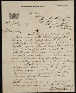 [Memorandum dated July 18, 1907 from Thomas Baker to John Northwood regarding acquisition of fragments of broken Aphrodite].