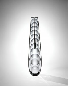 """""""Single Bloom"""" Vase with Lens-Shaped Cuts"""