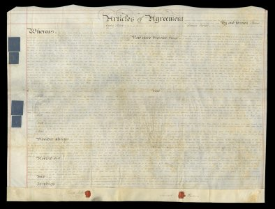 [Land indenture between English glass manufacturer Samuel Parker and Philadelphia merchant James Cowles Fisher].